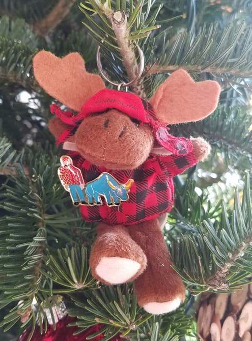 ornament, minnesota ornament, moose ornament, bemidji ornament