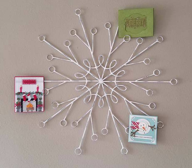 card holder, snowflake decor
